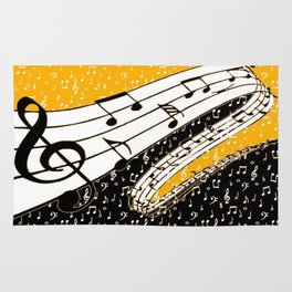 Gold music theme Rug