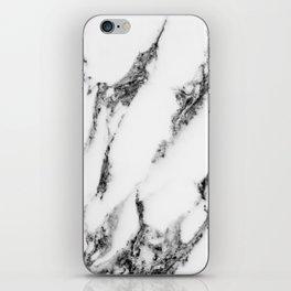 white marble III iPhone Skin
