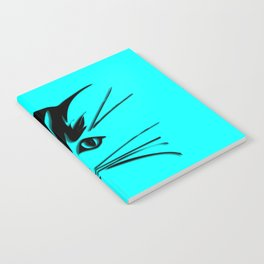 Aqua Kitty Cat Face Notebook