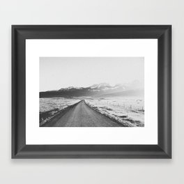 ON THE ROAD XX / Iceland Framed Art Print