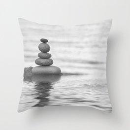 Seaside Harmony Zen Pebble Throw Pillow