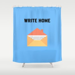 Write Shower Curtain