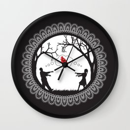Love Undead Black Wall Clock