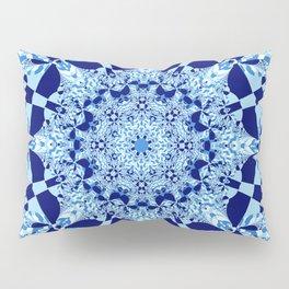 Blue toned cubism in a kaleidoscope Pillow Sham