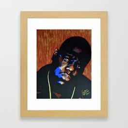 Biggie Smalls (Notorious BIG) Pop Art Framed Art Print