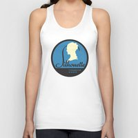 silhouette Tank Tops featuring Silhouette by One Little Bird Studio