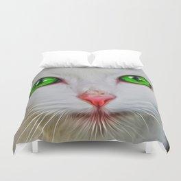 Green Eyes Cat Duvet Cover