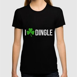 Dingle Ireland Print Irish Shamrock Heart T-shirt