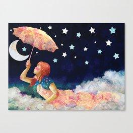Luna de papel Canvas Print