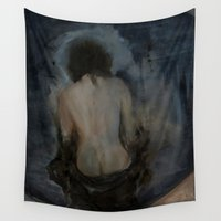 imagerybydianna Wall Tapestries featuring walking through mirrors by Imagery by dianna