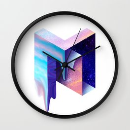 Melting M Wall Clock