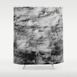 Clouds in Black & White Shower Curtain
