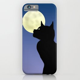 Moon and black cat iPhone Case