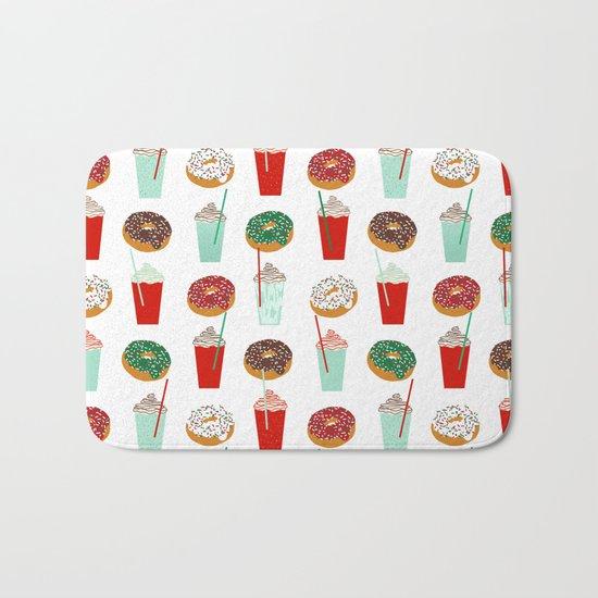 Christmas donuts sweet treats doughnuts coffee cafe latte foodie foods Bath Mat