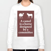 camel Long Sleeve T-shirts featuring Camel by cocksoupart