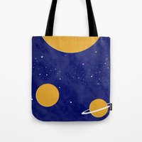solar system Tote Bags featuring Solar System by Quinn Shipton