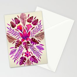 Tropical Symmetry – Magenta Stationery Cards