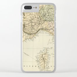 Vintage Retro Map Northern Italy Clear iPhone Case