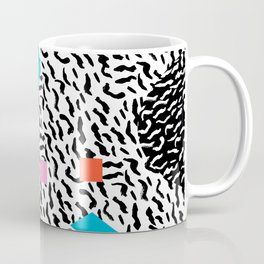 Get Real - memphis abstract pattern retro 80s design minimalist gifts colorful 1980's trend Coffee Mug