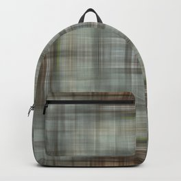 Modern Abstract Plaid Backpack