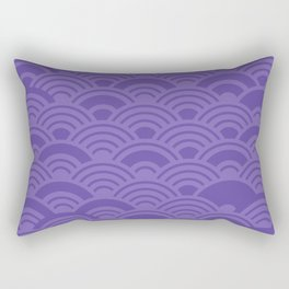 Ultra Violet Color of the Year 2018 Seigaiha seigainami wave of the sea abstract scales Rectangular Pillow