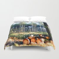 woods Duvet Covers featuring Woods by madbiffymorghulis