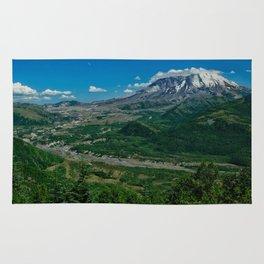Landscape Mt. St. Helens in Summertime Rug