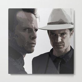 Raylan and Boyd 3 Metal Print