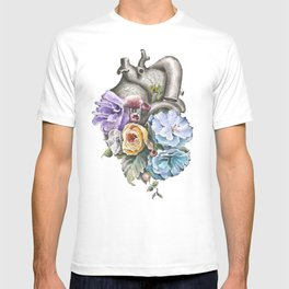 Blue Floral Heart T-shirt