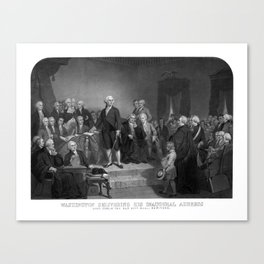 Washington Delivering His Inaugural Address Canvas Print