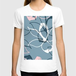 Pastel Flowers pattern T-shirt