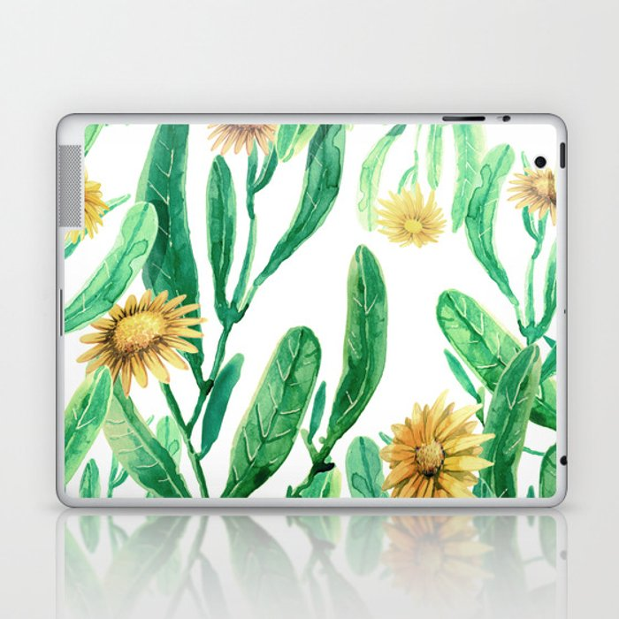 yellow flowers on sunny day Laptop & iPad Skin