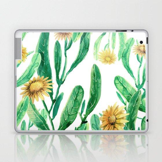 yellow flowers on sunny day Laptop & iPad Skin