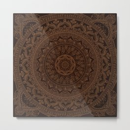 Mandala Dark Chocolate Metal Print
