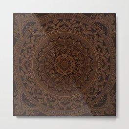 Mandala Dark Chocolate Metal Print