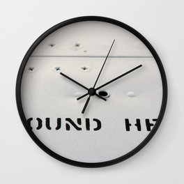 GROUND HERE Wall Clock