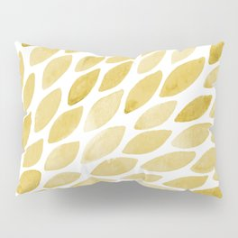 Watercolor brush strokes burst - yellow Pillow Sham