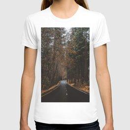 AUTUMN FOREST ROAD T-shirt