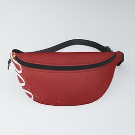 Red Scrible Christmas Tree Fanny Pack