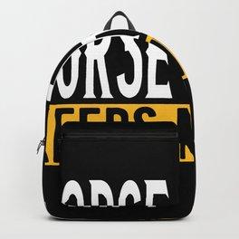 Horse Racing Lovers Gift Idea Design Motif Backpack