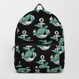 Sea Turtle Anchor Backpack