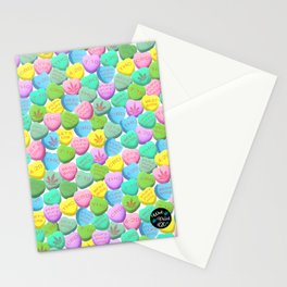 Cannabis Candy Hearts Stationery Cards