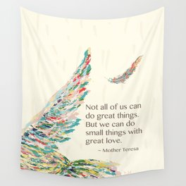 Mother Teresa Quote Wall Tapestry