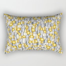 Metalic Mosaic Rectangular Pillow