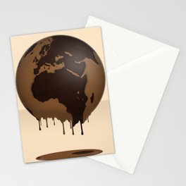 The Earth Global Chocolate Caramel Sweetness Praline Delicious Stationery Cards