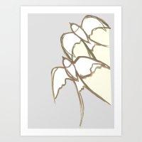 plain Art Prints featuring s1 plain by gasponce