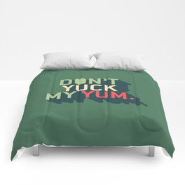 Green Don't Yuck My Yum Comforters