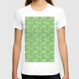 Abstract Polygon Summer Green Cubism Low Poly Triangle Design 2 T-shirt