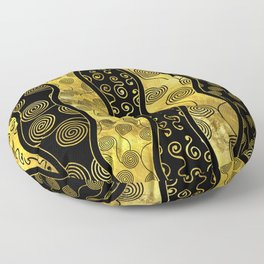 Luxury  Black and Gold African Pattern Floor Pillow