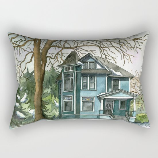 The House Under the Big Tree Rectangular Pillow